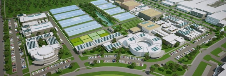 An artist's impression of the future Peel Business Park.