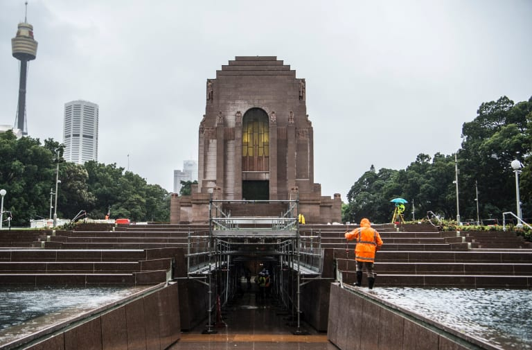 Vision realised: The refurbishment of the Anzac Memorial is almost complete.
