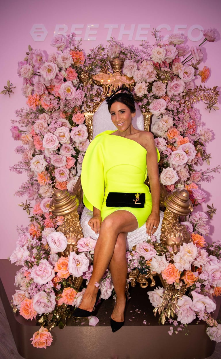 Lana Wilkinson makes a statement in neon yellow
