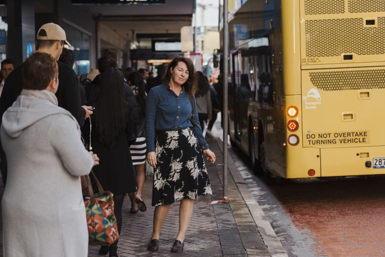 Flax Soetjandra, at a bus stop on Pittwater Road in Dee Why, said traffic congestion had worsened in the area.
