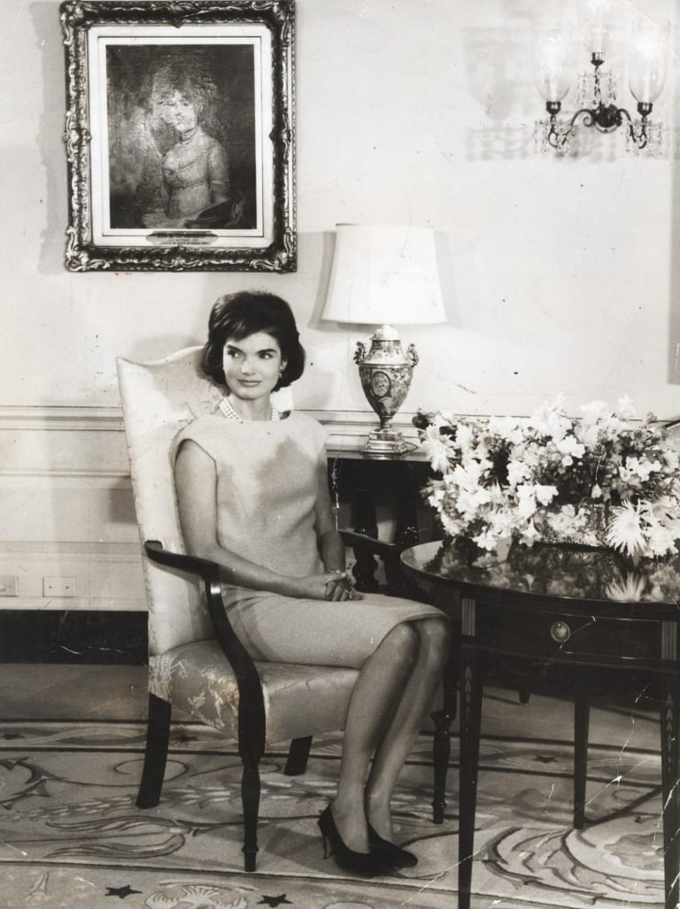 Jackie Kennedy in the White House.