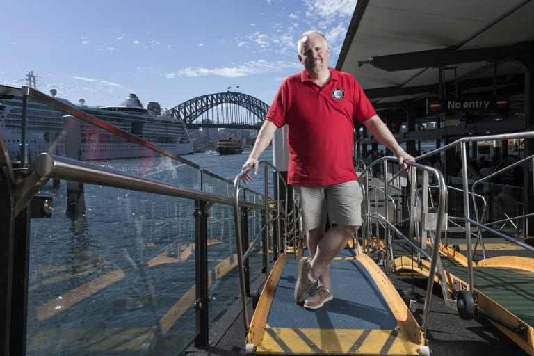 Andrew Heighway, a hydrofoil fanatic who has bought the last remaining Sydney hydrofoil, The Curl Curl and plans to bring it back from Italy to Sydney Harbour.