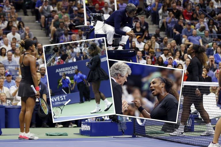 This match was not Serena Williams' finest hour.