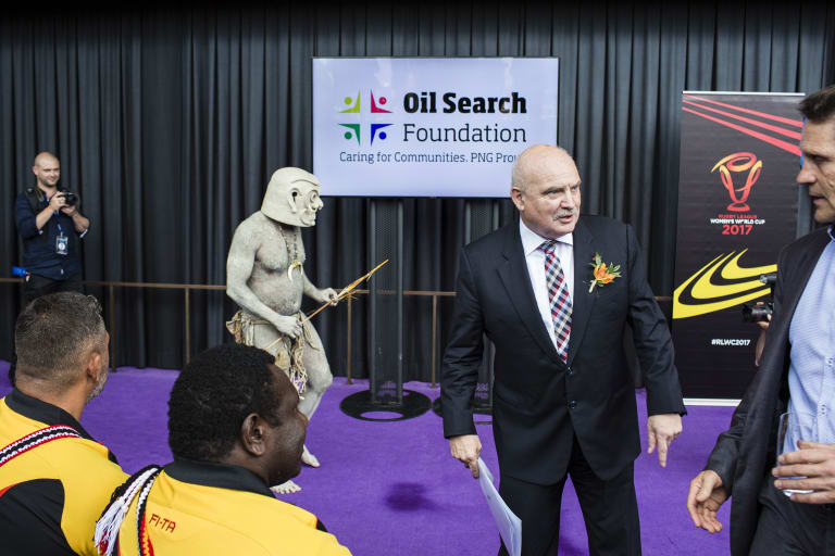 Oil Search CEO Peter Botten says the company has invested heavily in social programs for local PNG communities.