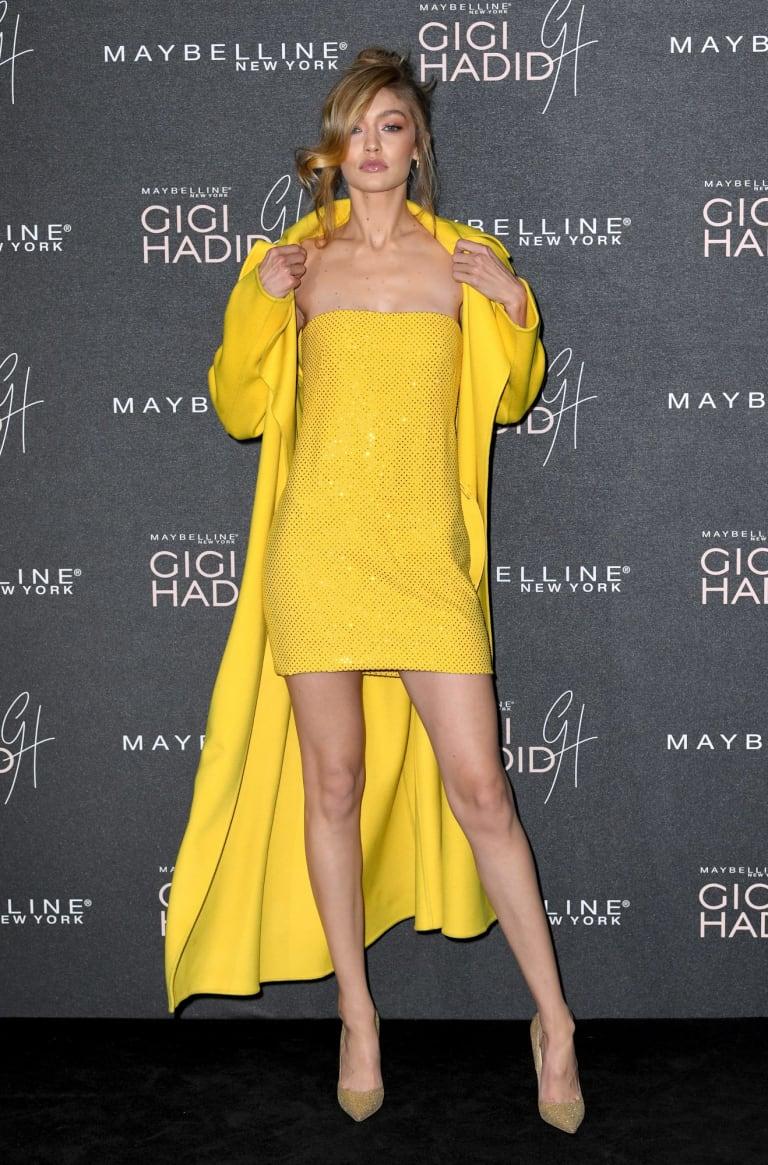 Gigi Hadid makes a bold statement in yellow.