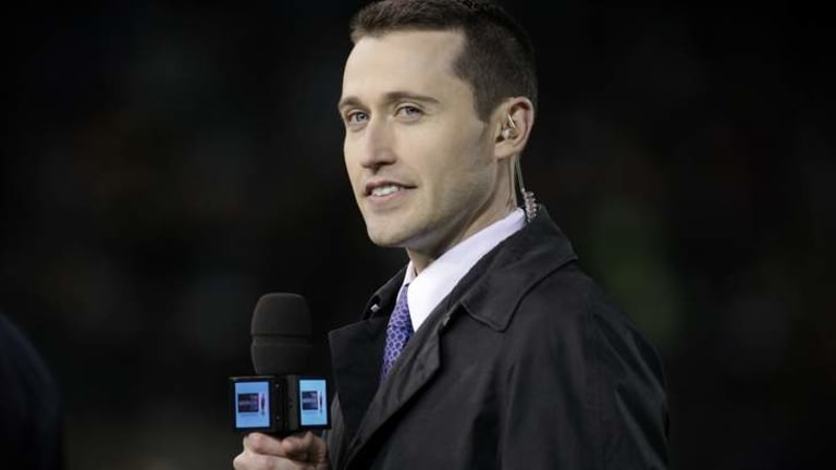 Tom Waterhouse during the Australia v New Zealand ANZAC rugby league test in 2013