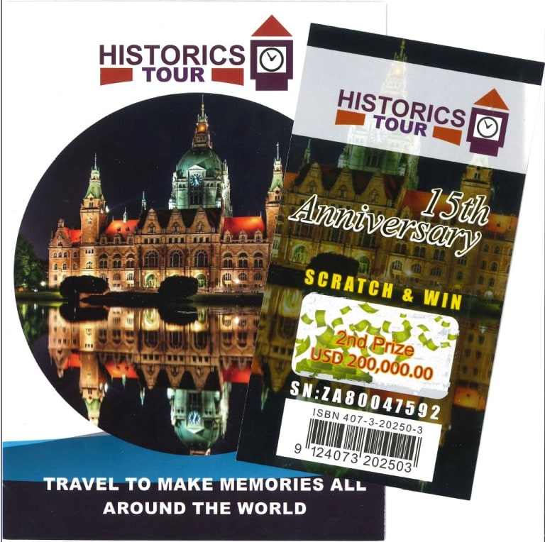 A Historic Tours brochure.