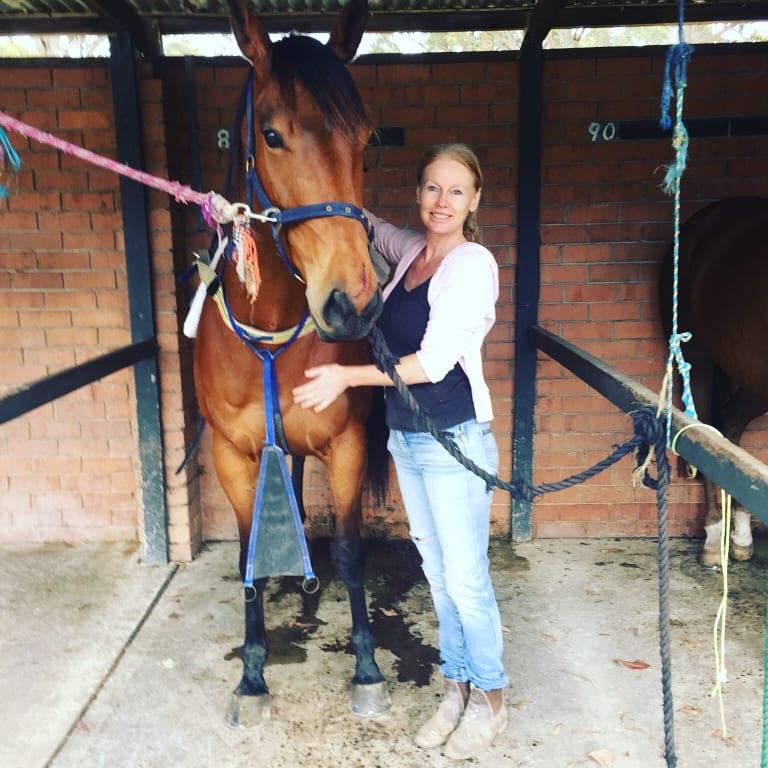 Shari-Lea Hitchcock with racehorse Big Girl.