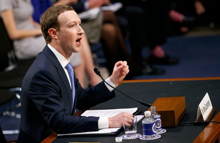 Facebook CEO Mark Zuckerberg testified in Washington after the Cambridge Analytica scandal.