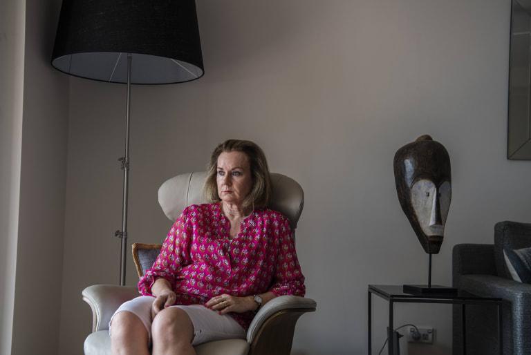 Margaret Osborne at her home.