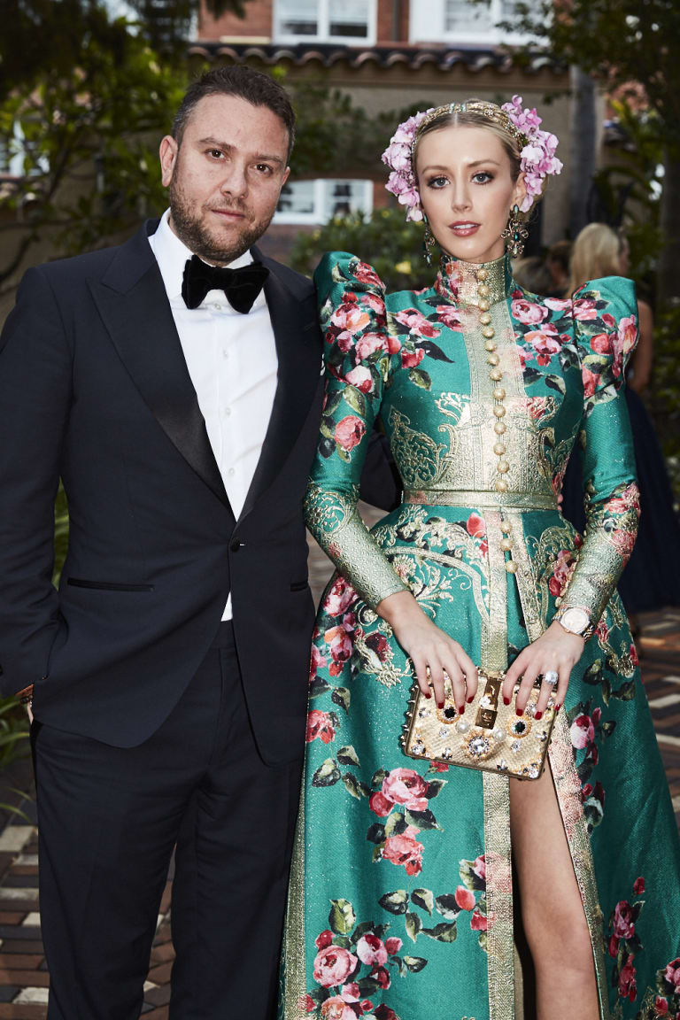 Sydney bling heir James Kennedy and his soon to be bride Jaimee Belle at the Silver Party earlier this year.