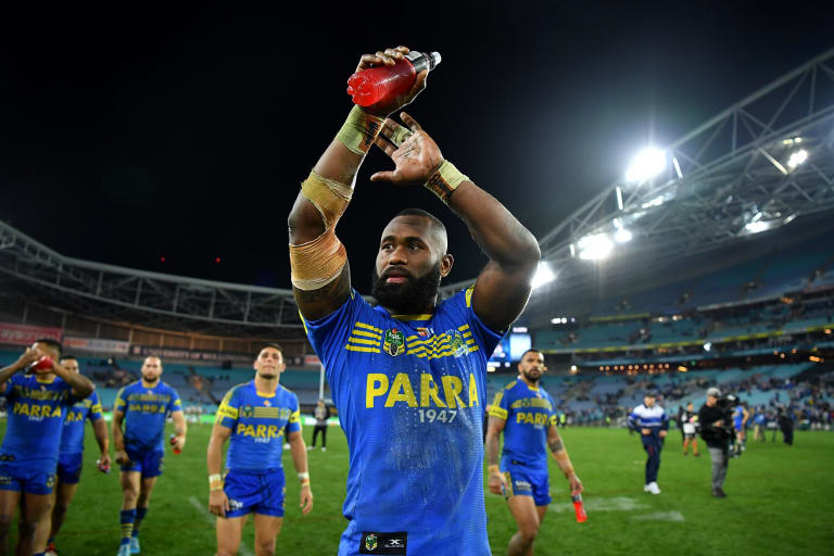 New colours: Semi Radradra during his playing days at the Eels.