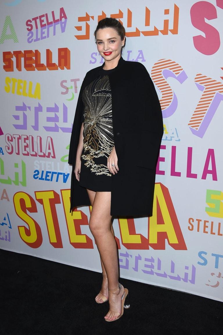Miranda Kerr arrives at the Stella McCartney Autumn 2018 Presentation.