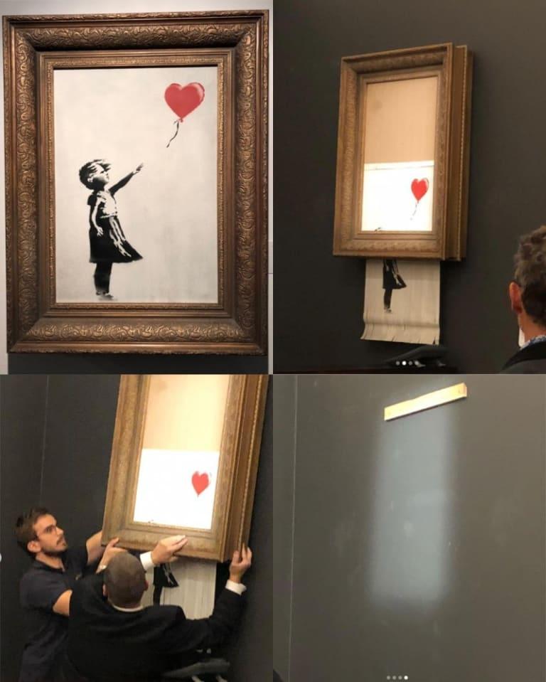 """""""We've been Banksy'd!"""""""