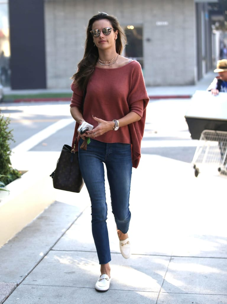 """Choosing responsible denim – as in, denim that is not distressed – is an easy way to """"green"""" your wardrobe: Alessandra Ambrosio."""
