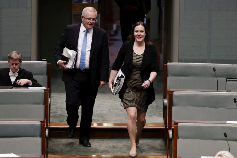 Financial Services Minister Kelly O'Dwyer and Treasurer Scott Morrison