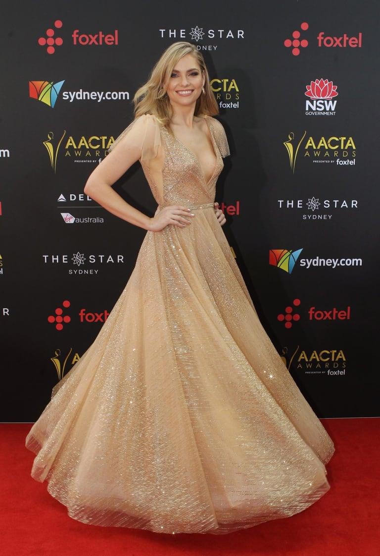 Melina Vidler arrives at the AACTA (Australian Academy of Cinema and Television Arts) Awards at The Star.