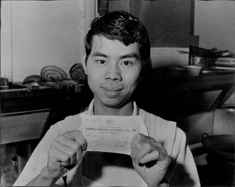 David Tsang, a chef at the Dragon Boat restaurant, won the Opera House lottery in June 1972.