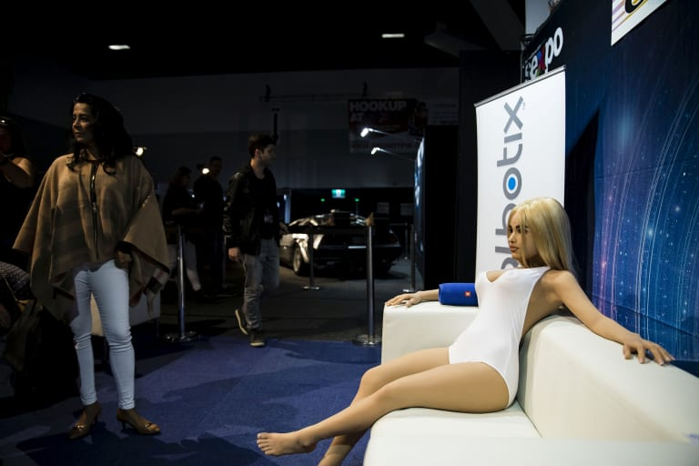 A sex robot on display at this year's Sexpo in Sydney.