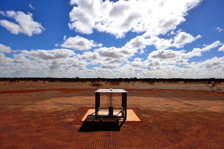 Dr Bowman's radio spectrometer, sited at CSIRO's Murchison Radio-astronomy Observatory in Western Australia.
