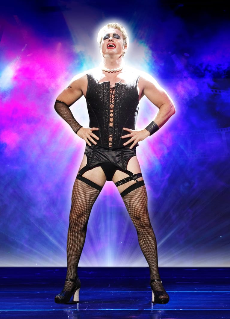 """Craig McLachlan in Rocky Horror Show. Richard O'Brien, who wrote the successful musical, said McLachlan """"steps out far beyond what most other performers can do""""."""