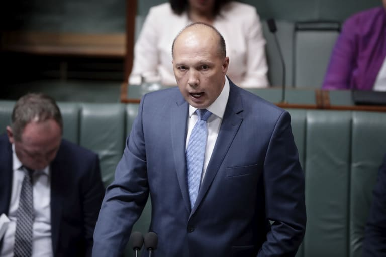 Home Affairs Minister Peter Dutton is under pressure over whether he misled Parliament.