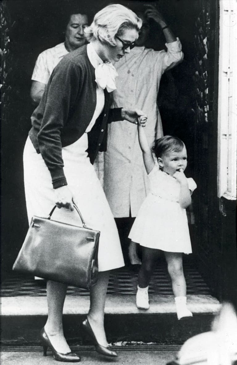 Grace Kelly, pictured in 1958, carries the Hermes bag named in her honour.