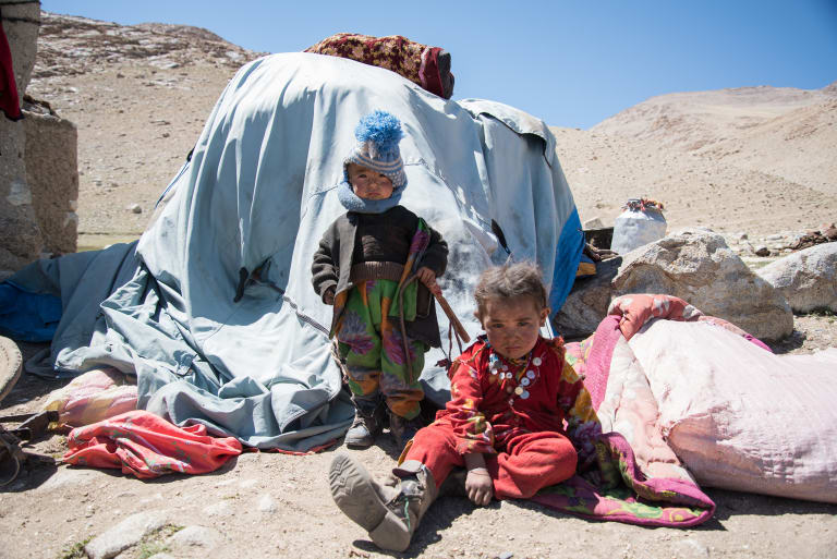 Children living among one of the world's last nomadic tribes.