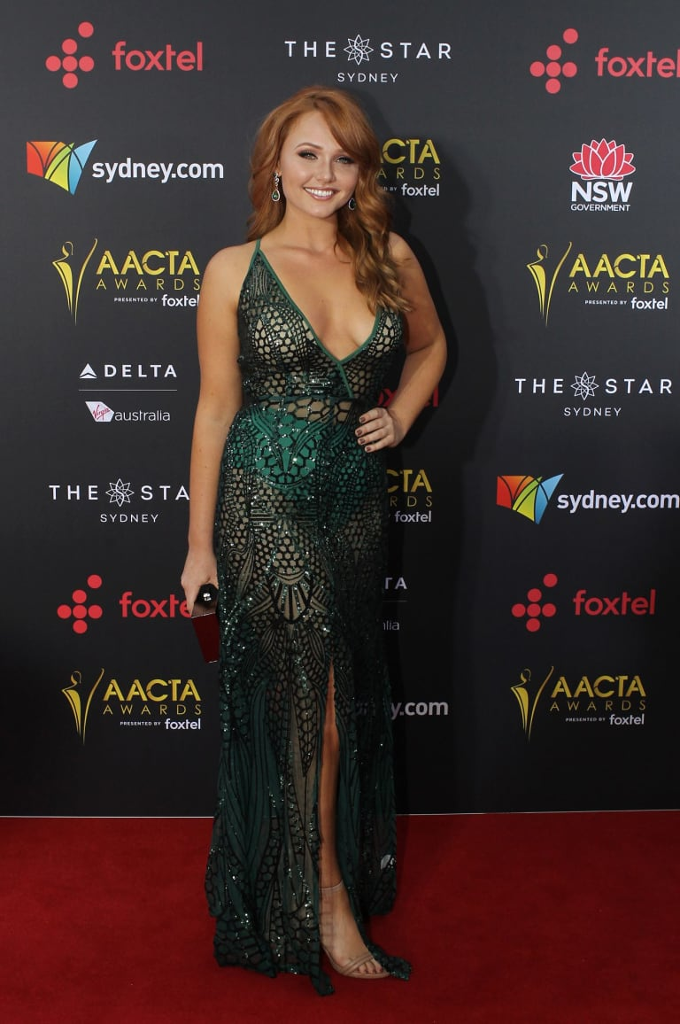 Brooke Lee arrives at the AACTA (Australian Academy of Cinema and Television Arts) Awards at The Star.