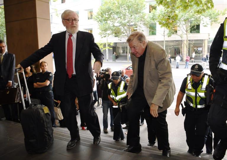 Robert Richter QC with his client, Cardinal Pell.