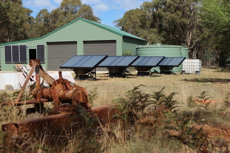 The solar-powered water makers are being trialled at homes and farms in remote communities.