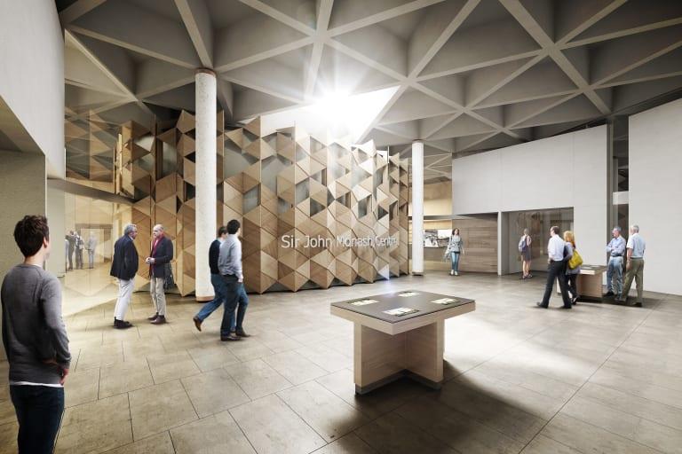 An internal render of the Sir John Monash Centre.