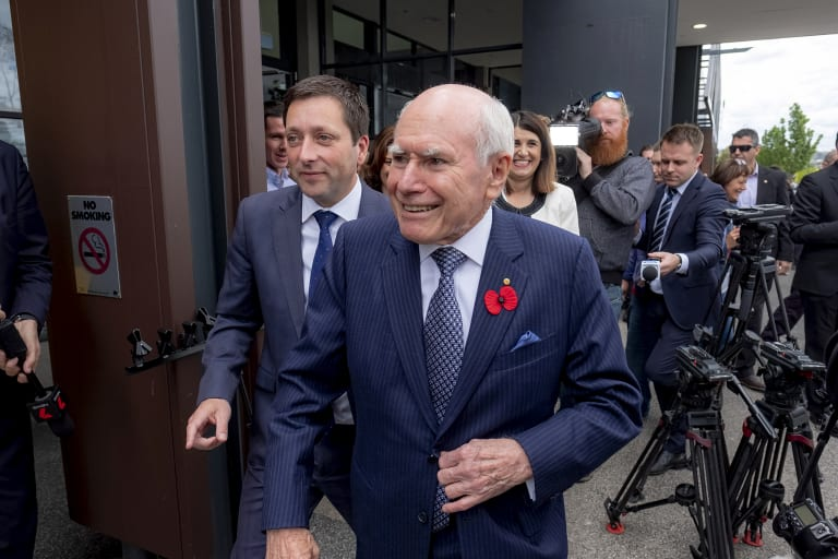 Former prime minister John Howard wows the fans at Fountain Gate