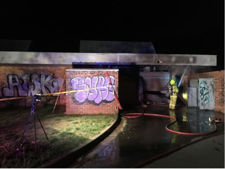 Fire crews were called to a fire at an abandoned building in Dickson last night.
