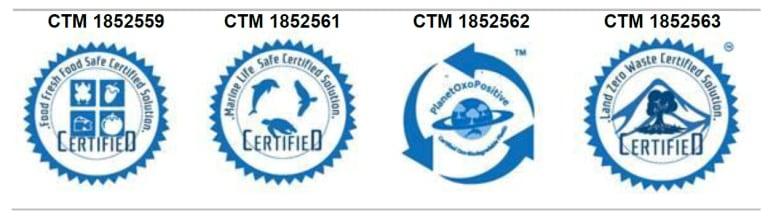 The OxoPak labels registered for certification.