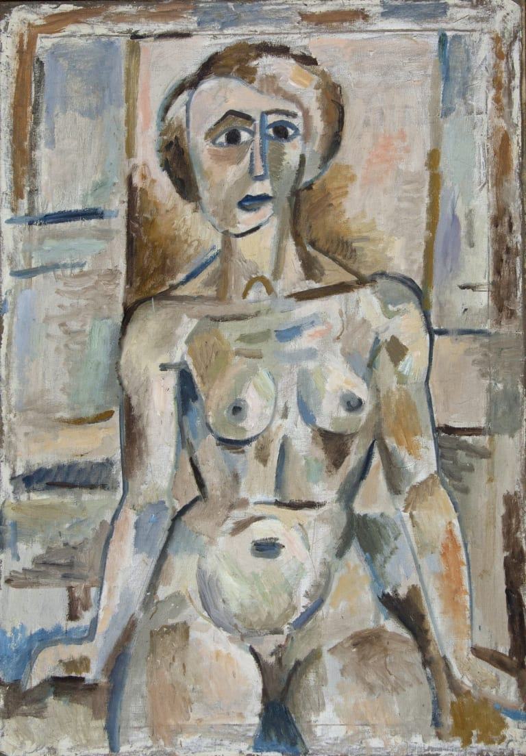 Tony Tuckson's <i>Seated Nude</I> (1952). Tuckson is an artist who embodies the uncompromising nature of the Watters Gallery.