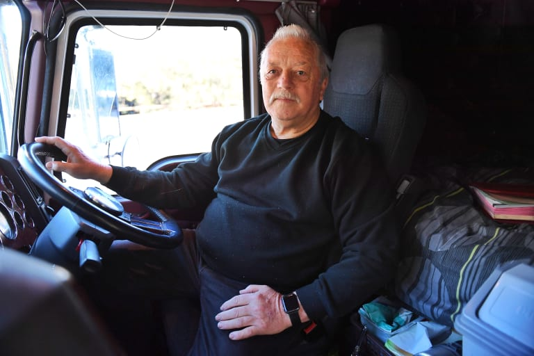 Truck driver Phil Costie