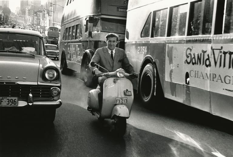 Harry M Miller zipping down Sydney's William Street in the swinging 60s.