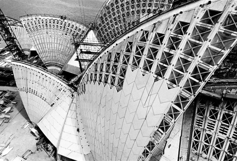 Opera House roof geometry, 1966.