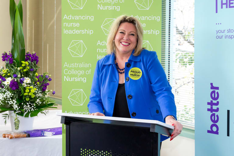 CEO of the Australian College of Nursing Kylie Ward.