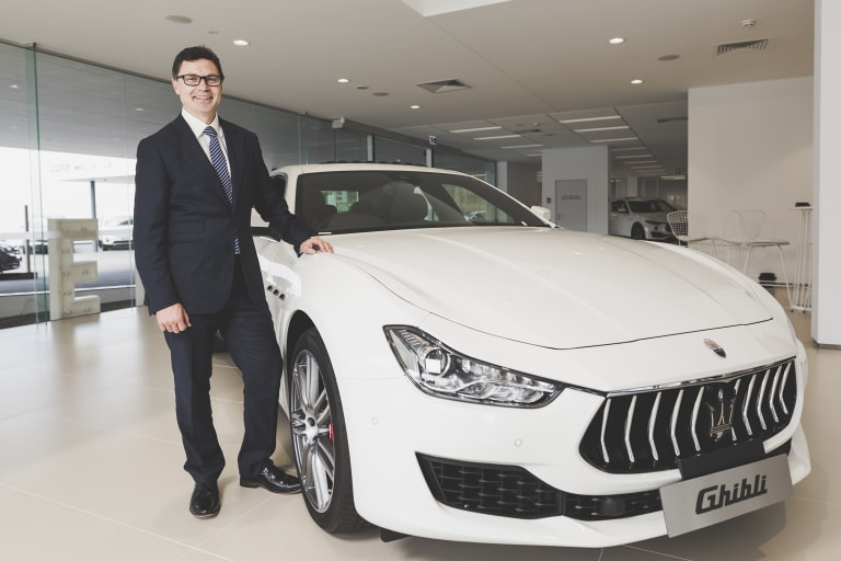 Maserati Australia and NZ chief operating officer Glen Sealey, who was in town on Thursday to launch the manufacturer's Canberra dealership.