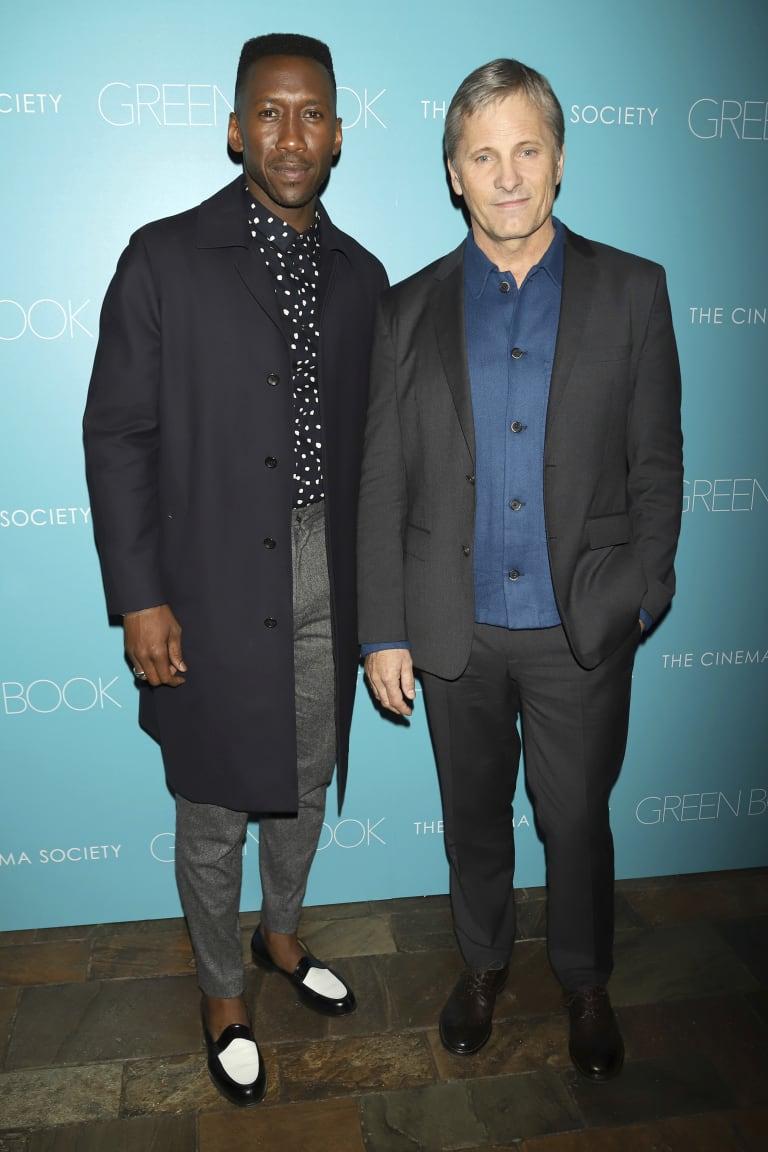 Mahershala Ali, left, and Viggo Mortensen at a screening of Green Book.