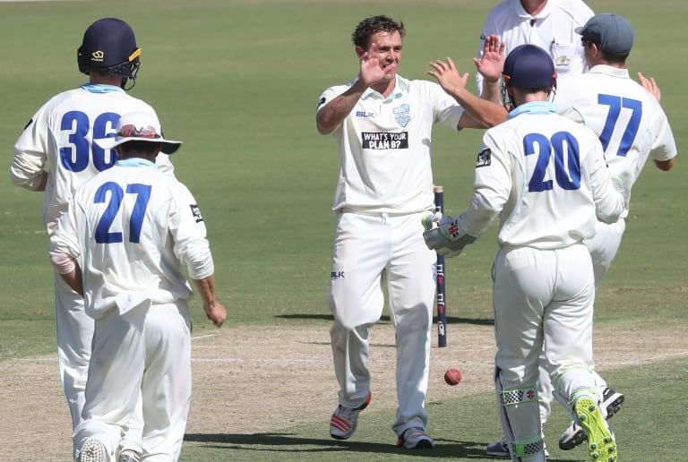 On fire: Steve O'Keefe took 10 wickets against Victoria last week.