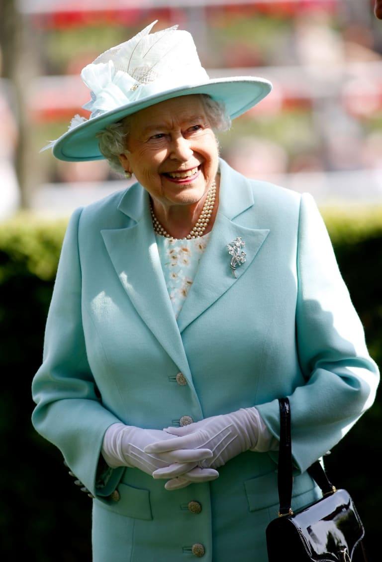 Queen Elizabeth II at Ascot racecourse.