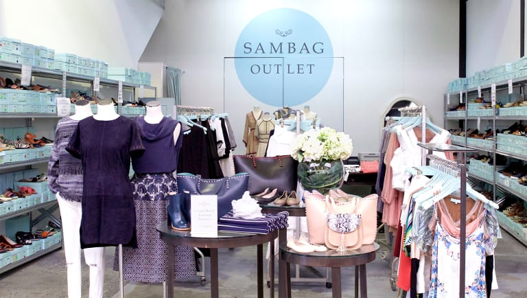 Sam Wagner's Sambag stores are baby blue and white, and known for their ballet flats.