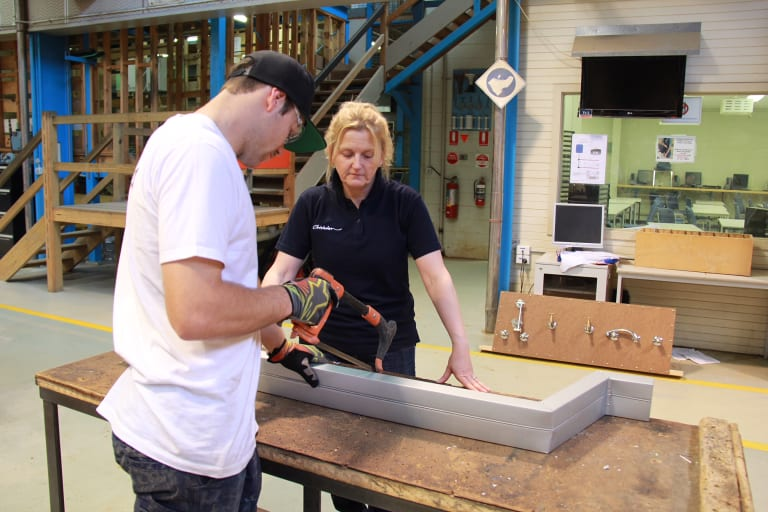 Plumbing educator Kerri McDonnell would like to see more women join the trade.