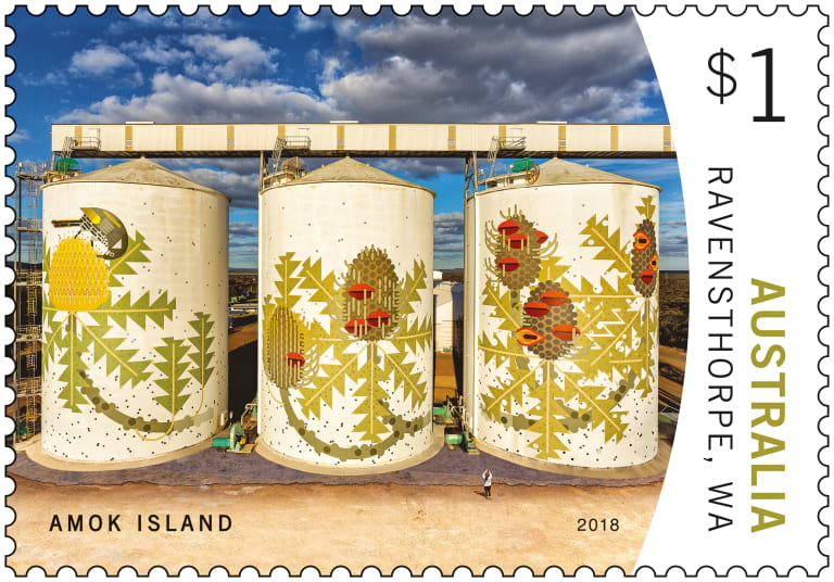 australia post stamps get a little grainy