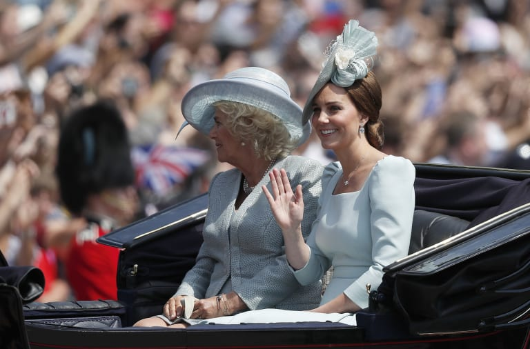 Princess Kate arrived at the ceremony with Camilla.