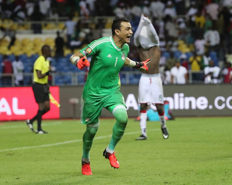 Elder statesman: Essam el-Hadary after Egypt won the Africa Cup of Nations in 2017.