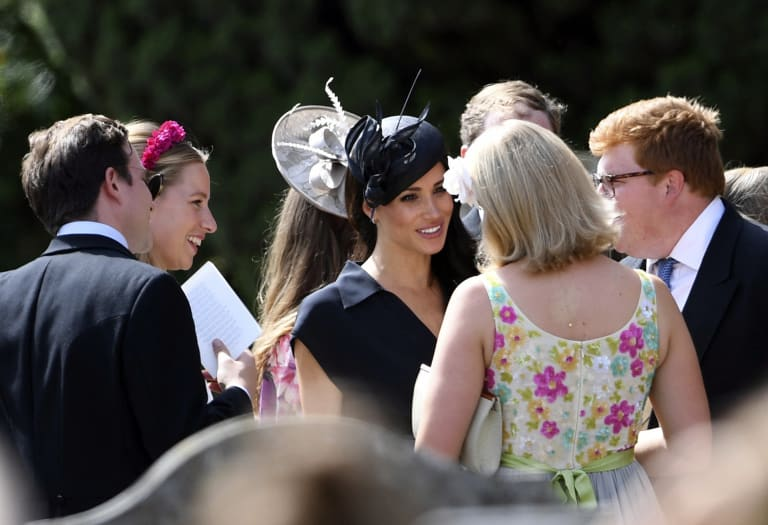 Meghan Markle at her friend's wedding.